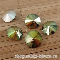 Rivoli Crystal Iridescent Green, 14 мм