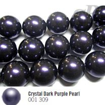 Crystal Dark Purple Pearl, 12 мм