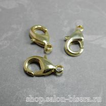 Карабин 15х9 с покрытием Gold Plated 16K